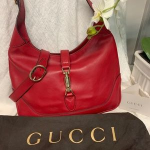 Gucci Jackie O Hobo Bag - In Red